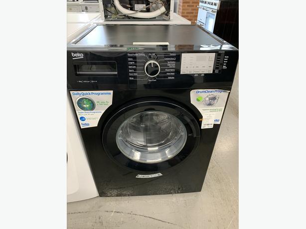 🟩Planet🌍Appliance - Black Beko 8kg Washing Machine