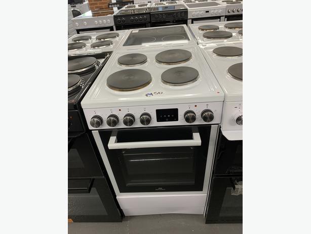 🟩Planet 🌍 Appliance - Bush 50 cm Electric Cooker White