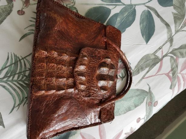 crocodile hand bag