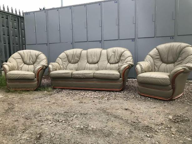 Italian Leather sofa set 3+1+1