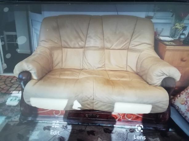 3str and 2str leather sofas
