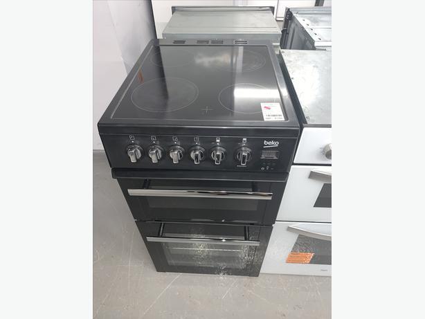 PLANET APPLIANCE - 50CM BEKO ELECTRIC COOKER IN BLACK