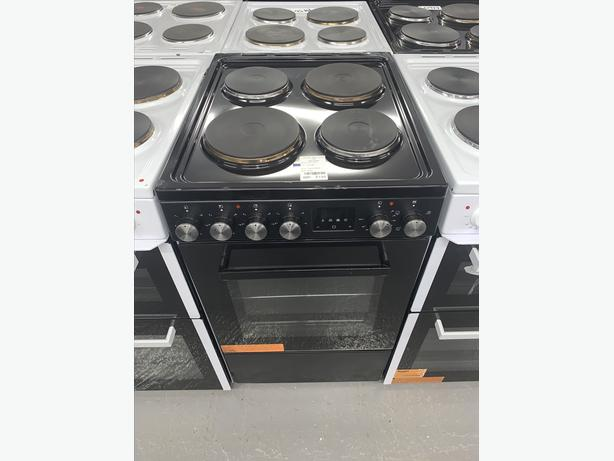 PLANET APPLIANCE - 50CM PLATED ELECTRIC COOKER IN BLACK