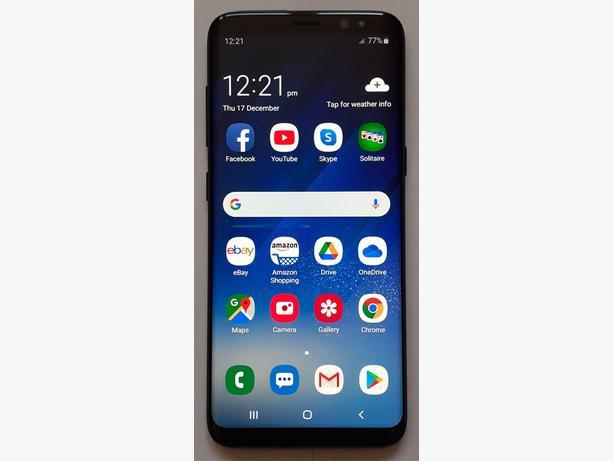SAMSUNG GALAXY S8 G950F BLACK 64GB £155