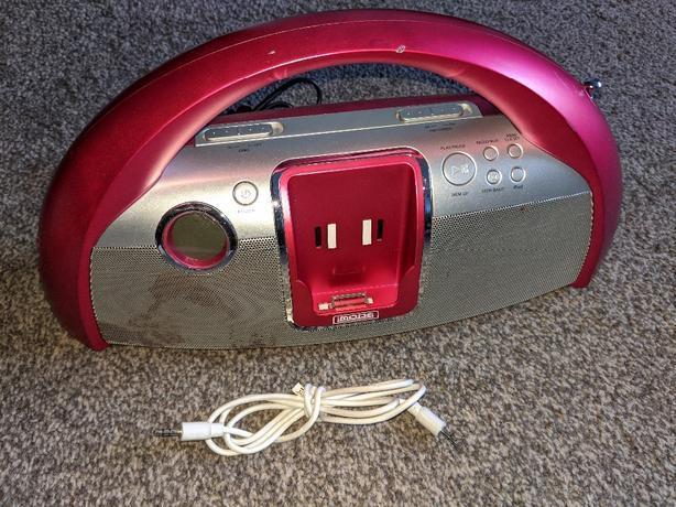 Radio speaker with aux imode ip1002muk