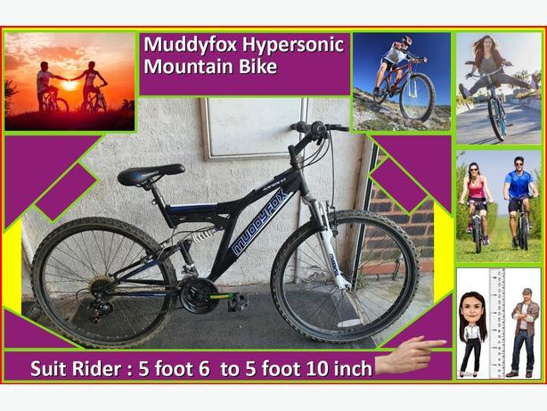 Muddyfox Hypersonic 2.0 Bike. 18 speed. 26 inch wheels.