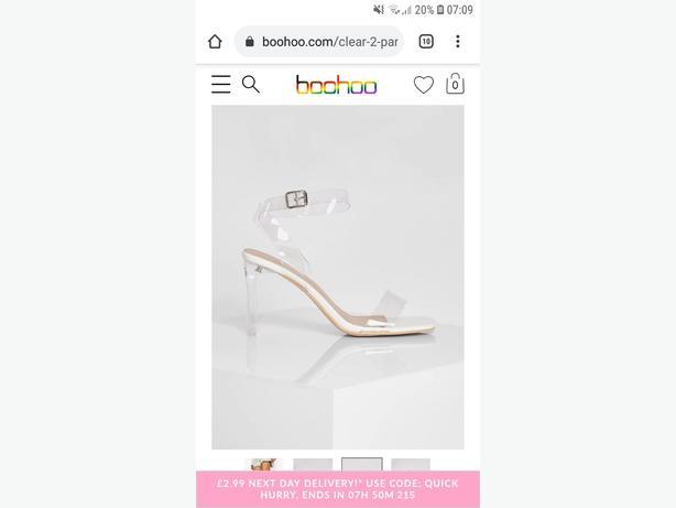 size 5 clear heels