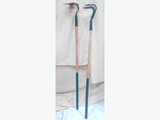 Long Handled Draw Hoe & 3 Prong Cultivator