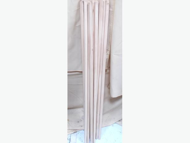 10x Wooden Broom Stales