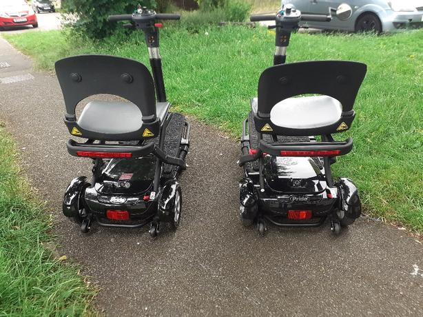 x2 pride quest foldable mobility scooter
