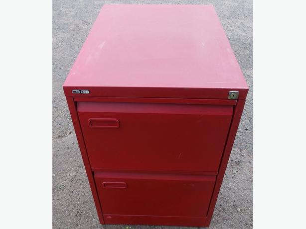 Red 2 DRaw Filing Cabinet