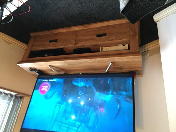 FREE: collecton large clifton tv stand and matching coffee table