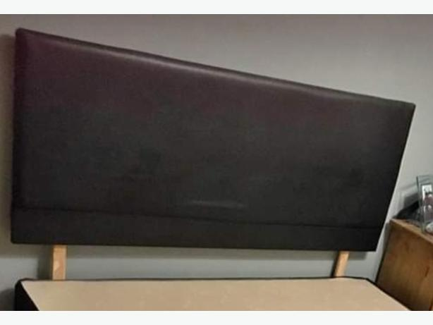 Nice Leather Headboard For  King Size Bed Good Condition Can Deliver for £5