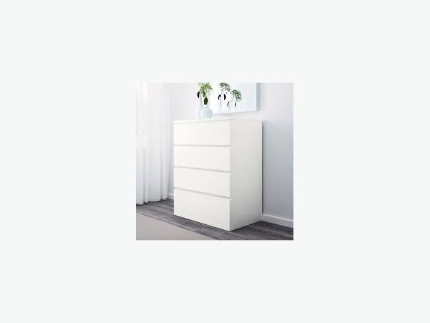 2 x ikea malm chest of 4 drawers