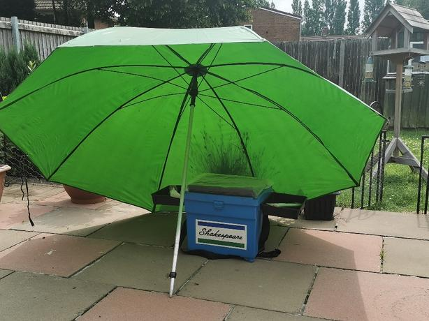 New box and used brolly