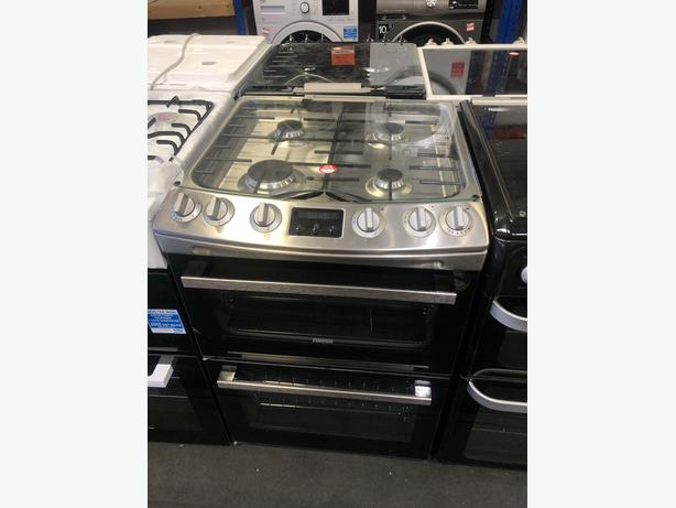 NEW/GRADED Zanussi ZCG63250XA Gas Cooker with Double Oven with Warranty
