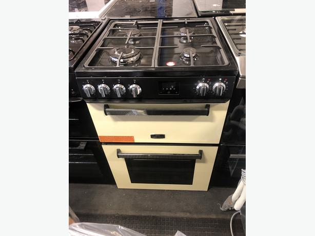 NEW/GRADED New World nwmc60dfb Dual Fuel Cooker - Cream with Warranty
