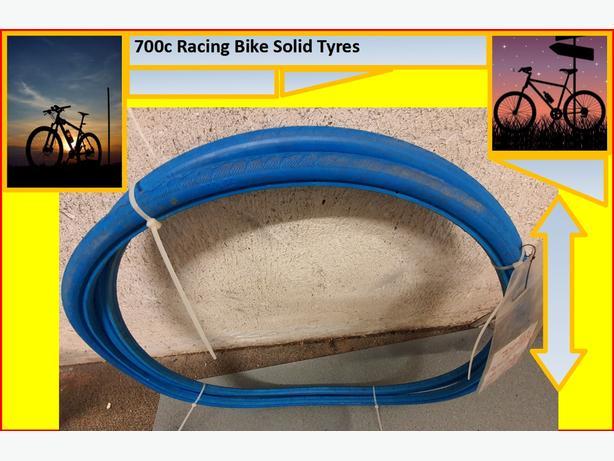 700C racing bike solid tyres.