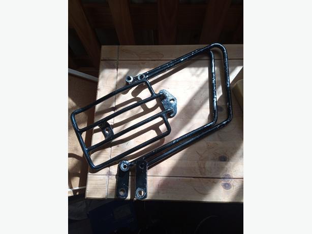 motor bike rack and harley pedals