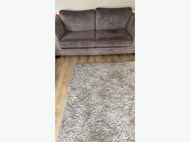 Brown Fabric 3seater sofa and cuddle chair