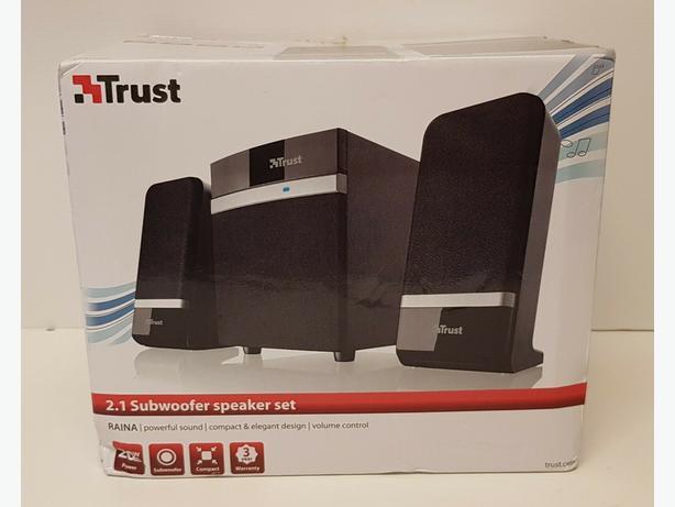 Trust 2.1 Subwoofer Speaker Set. 20W. USB powered,