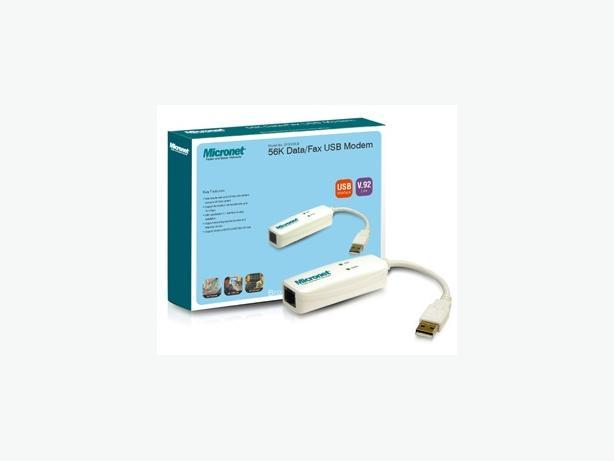 Micronet 56K Data/Fax USB Modem.