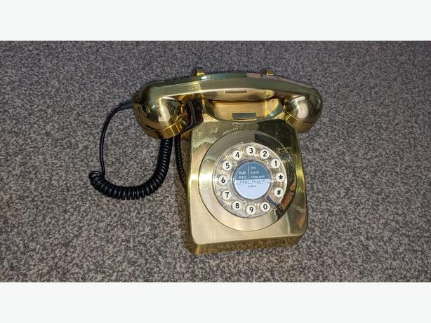 retro gold phone