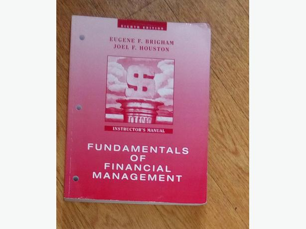 Fundamentals of Financial Management: Instructor's Manual, Eighth Edition