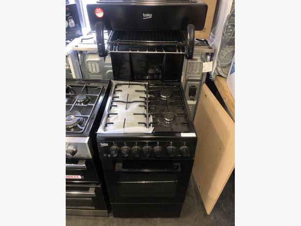 NEW/GRADED BEKO KA52NEK 50 cm Gas Cooker - Black | RRP £409