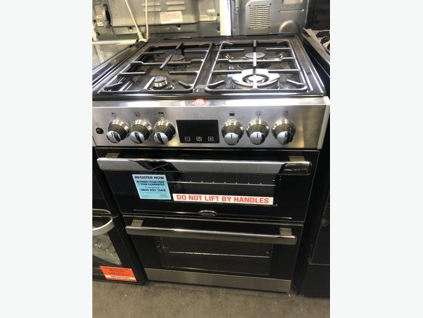 NEW/GRADED Belling Cookcentre 60DF Dual Fuel Cooker - Stainless Steel | RRP £699