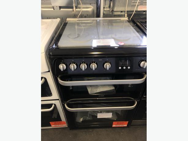 NEW/GRADED HOTPOINT HUG61K Gas Cooker - Black | RRP £419