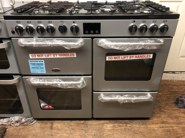 NEW/GRADED Belling SANDRINGHAM 100DFT 100cm Dual Fuel Range Cooker | RRP £1,189