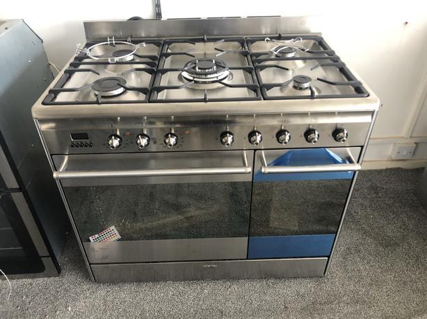 NEW/GRADED Smeg Concert SUK92MX9-1 90cm Dual Fuel Range Cooker | RRP £1,389