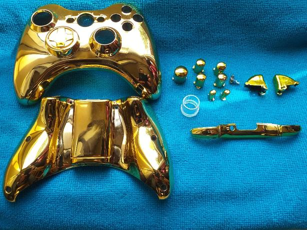 GOLD CONTROLLER SKIN FOR XBOX 360