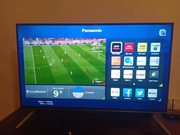 smart panasonic 40 inch full hd tv+freeview+brilliant+remote+DELIVERY
