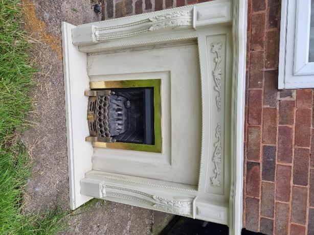 solid marble gas fire and surround