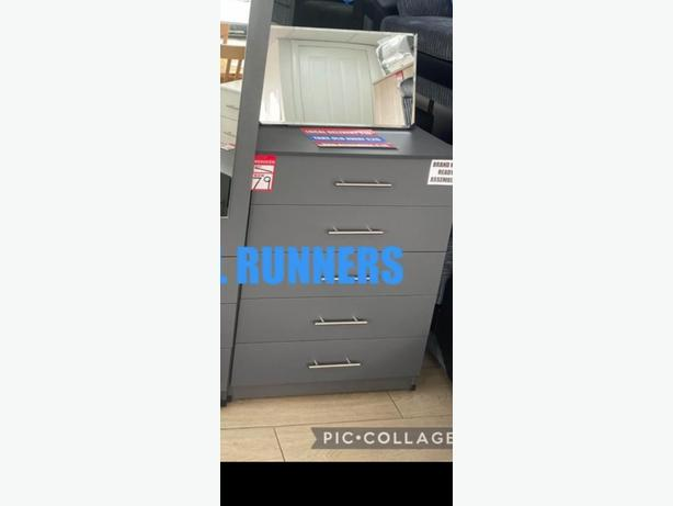 free delivery* BRANDNEW 5 DRAW CHEST assembled
