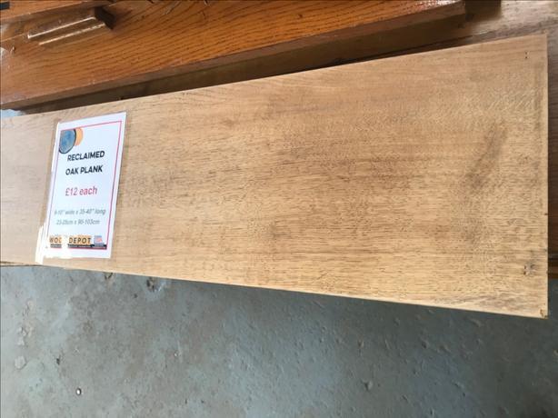 50 x Reclaimed Oak Plank Shelf 90cm x 23cm plus