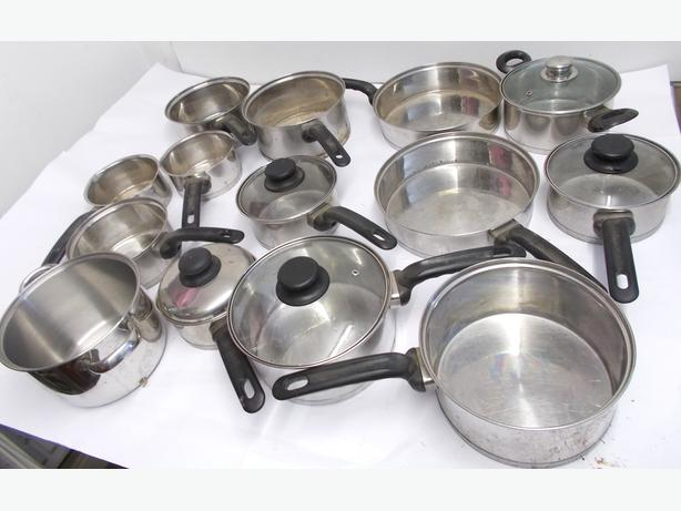 Joblot of 14 Hell's Kitchen Stainless Steel Pots