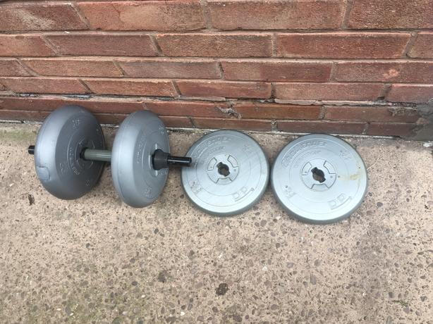 Four weights and one bar