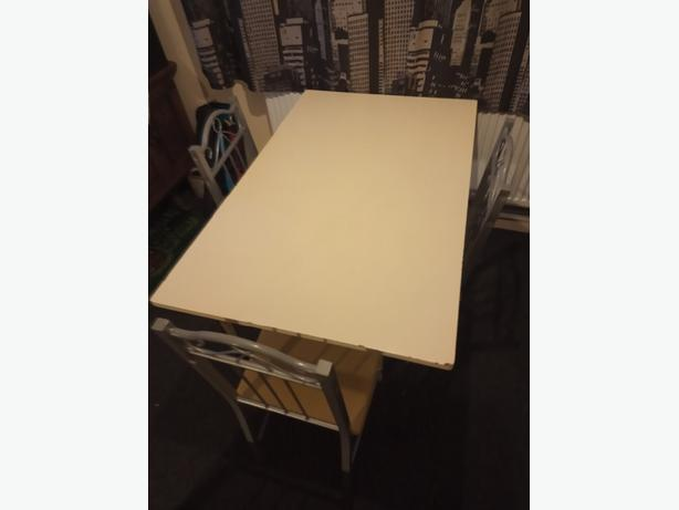 Dining Table And Three Chairs For Upcycling Project