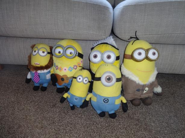 Selection of Minions Soft toys