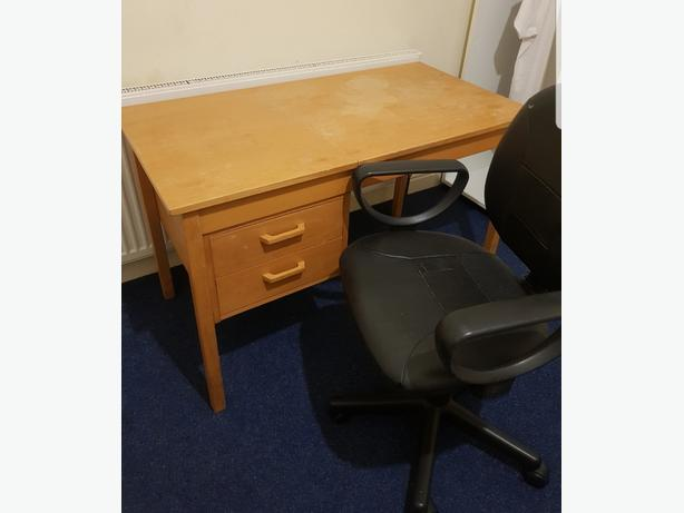 Office/ Student Desk Table with Drawers & Tilting Top Can Deliver For £5 Locally