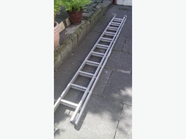 22ft extendable aluminium ladder