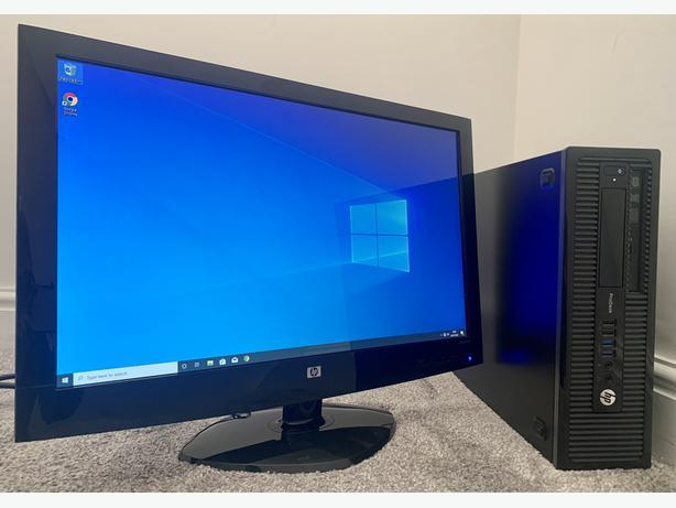 "HP PRODESK I5 DESKTOP PC COMPUTER & HP 23"""