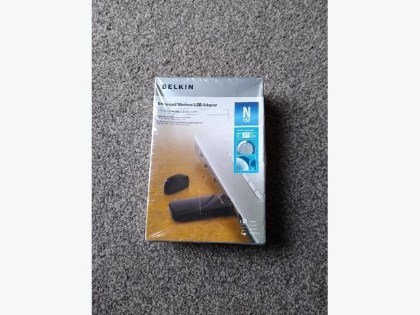 Brand New Belkin Wireless N150 USB Adapter