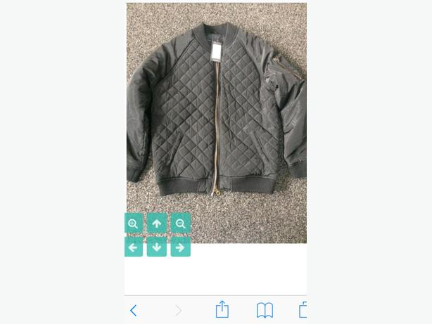 Brand new black quilted bomber jacket size 10