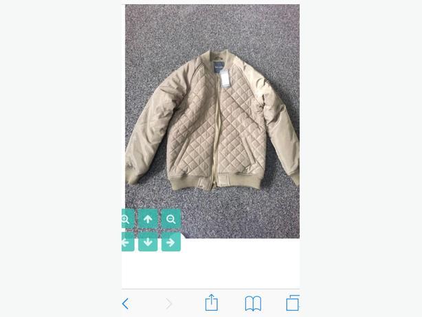 Brand new khaki bomber jacket size 10