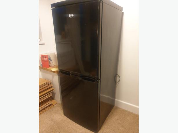 black clean bush fridge freezer+good working order+DELIVERY
