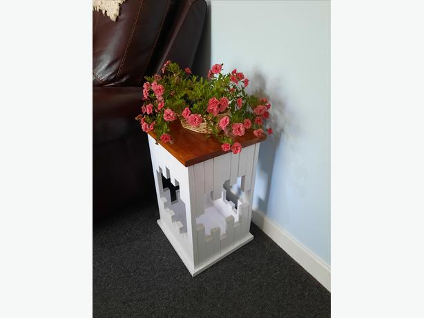 Unique Handmade Modern Side Table/Plant Stand